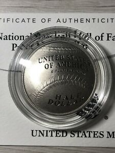 2014 U.S. BASEBALL HALL OF FAME Commemorative Half Dollar Coin W/ COA FC#28