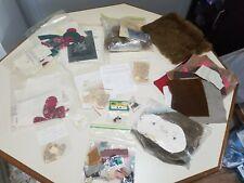 Vintage Bear Making Supply Lot, Patterns, Fur, Eyes, leather, etc