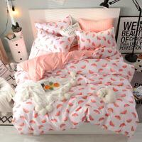 Watermelon Pattern Pink Bedding Set Duvet+Sheet+pillow Case Four-Piece New