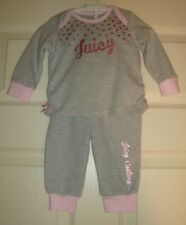 JUICY/COUTURE~girl's~GRAY/w/PINK/TRIM/RUFFLES/BOTTOMS/TOP! (3/6/MO) REALLY/CUTE!