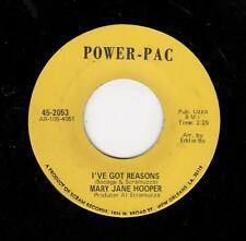 FUNK/DEEP SOUL-MARY JANE HOOPER-POWER-PAC-I'VE GOT REASONS/TEACH ME-(EDDIE BO)