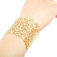 Charm Women Fashion Geometric Hollow Punk Cuff Bangle Wide Big Bracelet Jewelry