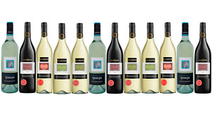 Best Seller Mixed Hardys Stamp of Australia Wine Pack - 12 x 1L  FREE SHIPPING