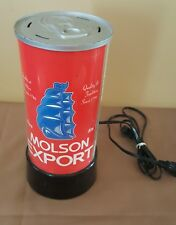 Molson Export Ale Beer Can Lamp Working