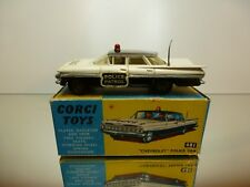 CORGI TOYS 481 CHEVROLET IMPALA POLICE - OFF WHITE 1:43 RARE - GOOD IN BOX