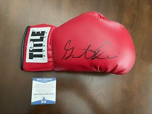 Gervonta Davis Signed Auto Title Boxing Glove 4x Champion Beckett#WC87030 🔥🔥
