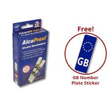 Alcohol AlcoProof Breathalyser con GB Placa Pegatina paquete de oferta en el coche