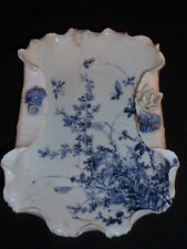Rare Late Edo Period Some-tsuke Hira do Mikawachi Presentation Leaf Dish, c1850