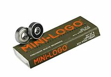 Mini-Logo Skateboards Bearings (Pack of 8), Silver One Size