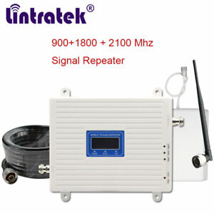 2G 3G 4G Cellular Cell Phone Signal Booster 900 1800 2100mhz Amplifier 70dB Data