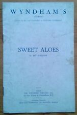 Sweet Aloes programme Wyndham's Theatre ~1935 Diana Wynyard Hartley Power