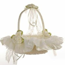 Flower Girl Basket Wedding Collection, Baskets, Lace Deoration