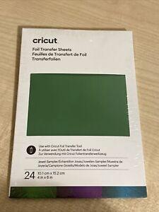 "Brand New Cricut 24 sheet 4x6"" Jewel Sampler Foil Pack"