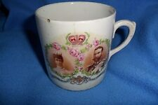 RARE Queen Mary King George V mug commemorate coronation June 22nd 1911,chips