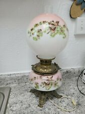 Gone With The Wind VTG Table Parlor Lamp Oil Converted to Electric Glass Ball