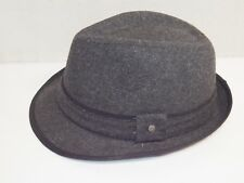 Stetson Wool Polyester Blend Charcoal Tweed Fedora Men's XL