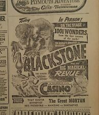 Jan 12, 1953 Newspaper Page #J5472- Harry Blackstone In Person- Today