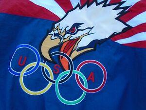 Men's Vintage 90's USA Olympics Starter Windbreaker Jacket Eagle Fits Sz S-M
