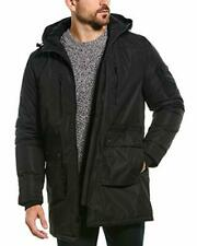Slate & Stone Men's Greg Polar Fleece-Lined Long Coat (Black, XL)