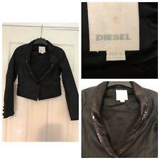 Vintage DIESEL BLACK Cropped Blazer Jacket, Size S Small (386)