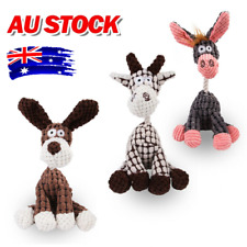 Pet Chew Toy Squeaker Squeaky Cute Soft Plush Play Sound Dog Puppy Teeth  AU