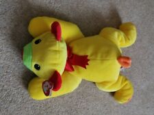 "TY Beanie - Pillow Pals Collection ""HUGGY"" Yellow Bear Pre-owned Retired"