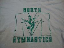 Vintage North M Gymnastics Athletic Exercise Gym Soft Grey Men's T Shirt L