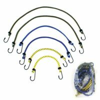 """24/"""" Bungee Rope With Carabina Hooks Cords Shock Elastic Clips TE922"""