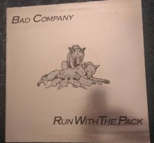 BAD COMPANY  RUN WITH THE PACK Island 76 A3B3 Foil Sleeve UK 1ST PRESS VG++/EX