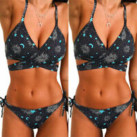 Women Push Up Two Piece Bikini Set Swimsuits Padded Swimwear Bathing Beachwear