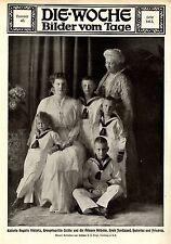 Kaiserin Auguste Viktoria, Kronprinzessin Cecilie & Kinder Bilddokument 1915