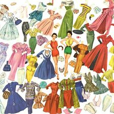 Vintage Pat Crowley Paper Dolls Original 1955 Whitman #2050 And Handmade Dresses