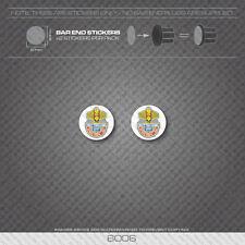 6006 - Bottecchia Bicycle Handlebar Bar End Plug Stickers - Decals