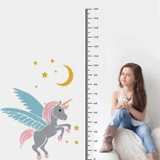 Unicorn Wall Sticker Height Ruler Measure Growth Chart Decal Kids Decor Mbyss