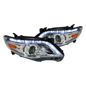 For 11-13 Toyota Corolla LED DRL Projector Headlights Chrome Housing TRD Sport