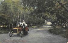 Lovers Lane, Garden City, Kansas Old Car 1909 Renick Bro. Vintage Postcard