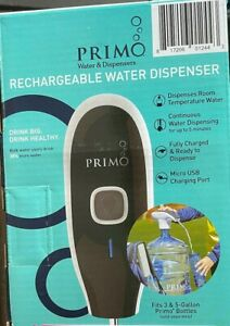 NEW ~ Primo Portable Electronic Rechargeable Water Pump Dispenser