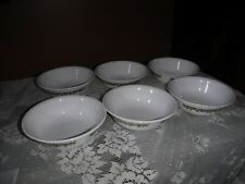 """(6) VINTAGE CORELLE CRAZY DAISY SPRING BLOSSOM 6 1/4"""", 6.25 INCH CEREAL BOWLS"""