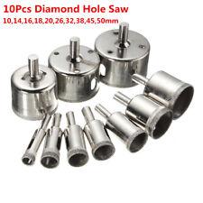 10Pcs Diamond Hole Saw Drill Bit Cutter Tile Ceramic Glass Marble Tool 10-50mm