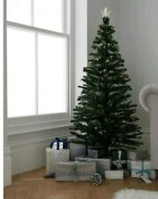 Argos Home 5ft Fibre Optic Christmas Tree Green - Warm White Lights
