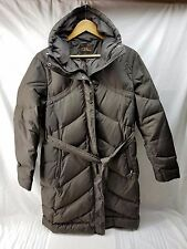 Cole Haan Women Goose Down Feather Puffer Jacket Brown/Chocolate XL