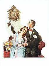 """NORMAN ROCKWELL """"COURTING COUPLE AT MIDNIGHT""""  Color 11.5""""x 15"""" Poster Print"""