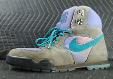 Rare Vintage 1991 Nike Hiking Hiker Shoes Boots Size 8 Gray & Purple 910507 SE