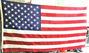 """American Flag USA 50 Stars 58""""x114"""" Valley Forge """"Best"""" Sewn 100% Cotton Bunting"""