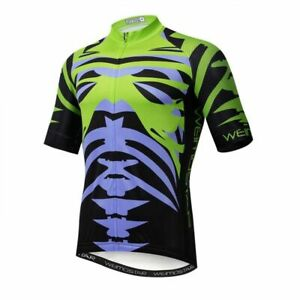 Bicycle Cycling Clothing Green Cycling Jersey Men's Cookie Breathable MTB Shirt