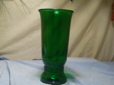 """1940's~NAPCO~1168~CLEVELAND~USA~Forest Green Glass~Decorative 9.5"""" Table Vase"""