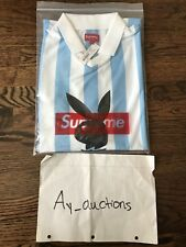 Supreme Playboy Soccer Jersey Light Blue Authentic Large *in Hand*