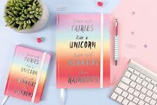A5 Unicorn Mermaid Rainbow Journal note book