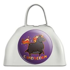 Candycorn Candy Corn Unicorn Halloween White Metal Cowbell Cow Bell Instrument
