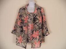 Women's Floral Covington 2 Piece Shirt. Small. 100% Polyester.